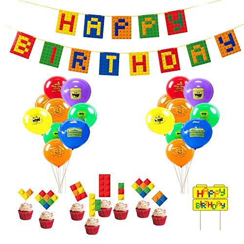 Building Block Birthday Party Su...
