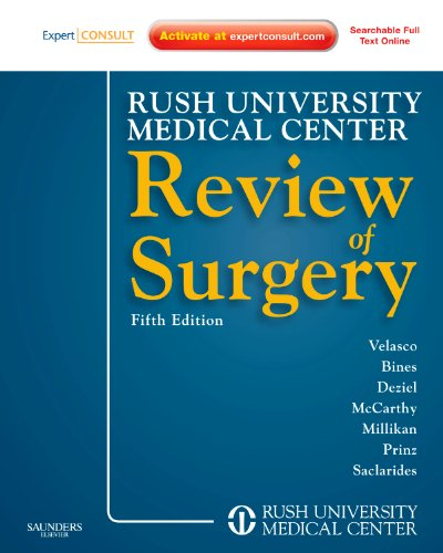 Rush university medical center review of surgery 6th edition.