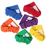 Toysharing 3 Legged Race Bands Durable Three Legged Race Bands Flexible Colorful 3-leg Relay race Ties Straps For Kids Adults Children Outdoor Game Family Fun 6 Pack