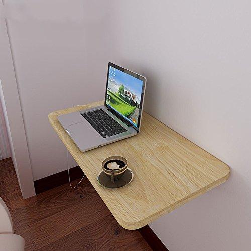 Tables HAIZHEN Pliable Pliante Murale, de Cuisine Pliante à Manger, Enfants, Enfants, Blanc Stations de Travail informatiques (Couleur : Wood Color 60cm)