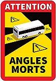 DSTOCK60 - Lot DE 3 Autocollants Officiels Angles Morts sur Les Bus - Waterproof - L.170 x H.250mm