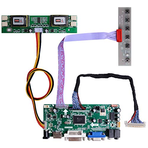 Owootecc NT68676 HDMI VGA DVI Arcade Audioeingang LCD Controller Treiberplatine für HSD190MEN4 M170DE06 M170EG01 17