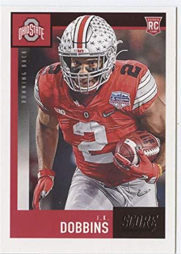 2020 Score #381 J.K. Dobbins RC Rookie Ohio State Buckeyes Football Trading Card