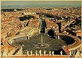 IFUNEW Abstrakte Leinwand Italien Sizilien Retro Poster