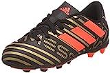 Adidas Nemeziz Messi 17.4 FxG J, Botas de fútbol Unisex Adulto, Negro (Negbas/Rojsol/Ormetr 000), 38 EU