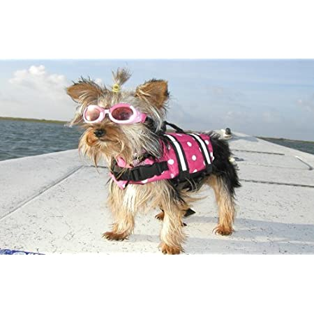 ThinkPet Dog Life Jacket Adjustable Floating Vest,High Buoyancy Aid Dog Saver Reflective Lifesaver with Rescue Handle
