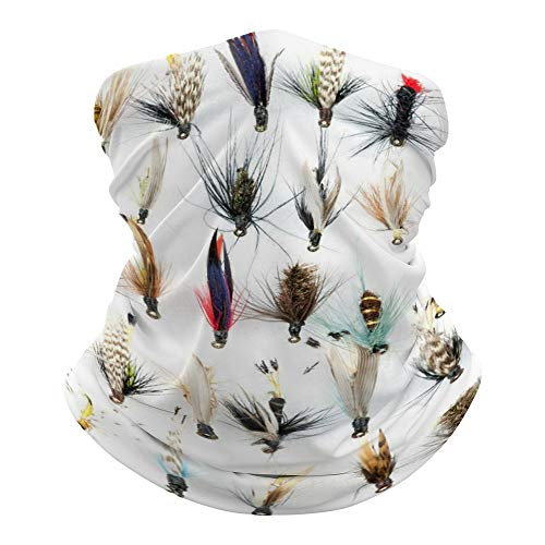 White Fish Election of Traditional Trout Fishing Flies 0 Face Mask...