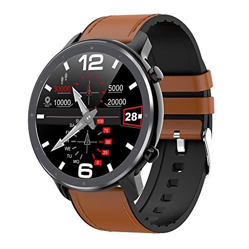 """Fesjoy 1,3""""Touchscreen Smart Watch Herzfrequenz- und EKG-Monitor Blutdruck Sauerstoff Wissenschaftlicher Schlaf Multi-Sport-Modus Smartwatch IP68 wasserdichte Smartwatches Alu-Uhrengehäuse für Männer"""