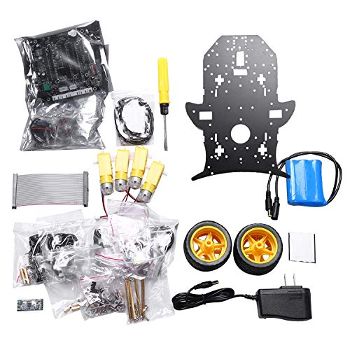 Cuasting Robot Kit for Raspberry Pi 4B / 3B + with HD Camera, Programmable Smart Robotics Truck with 4WD(for Raspberry Pi Not Include)