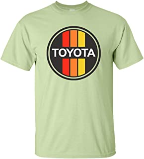 Men's Toyota T-Shirt Retro Car Truck Racing Stripes Fan Enthusiast Logo Graphic Tee