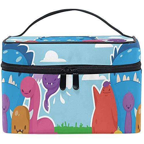 Trousse de maquillage Adorbale Monsters Cartoon Portable Grand Trousse de toilette cosmétique Voyage Train Case Organizer Box Pouch