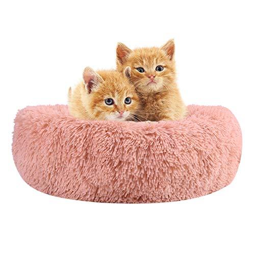 ITODA - Cama de Gato Ultra Suave y cálida para Mascotas, Cesta para Gato/Perro pequeño/Gatito, de Felpa, Redonda, Suave, para Cachorros, Gatos pequeños