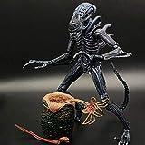 DVD- Aliens Vs Predator - 7' Escala Mantis Extranjero (Azul} & heteromorphic Huevo Figura de acción de colección for los Aficionados Extranjeros