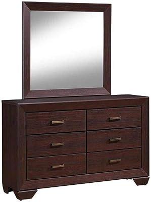 Coaster Home Furnishings Dresser Fenbrook Rectangular Mirror, Dark Cocoa