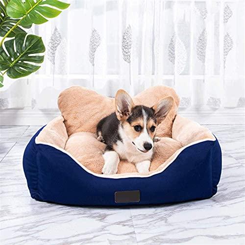 IUYJVR Cama para mascotas PECUTE Cama para perro – lavable, higiénica y antideslizante, cálida cama de felpa para perro, lujoso saco de dormir para mascotas, azul [dentro de 20 kg] (Color: Azul)