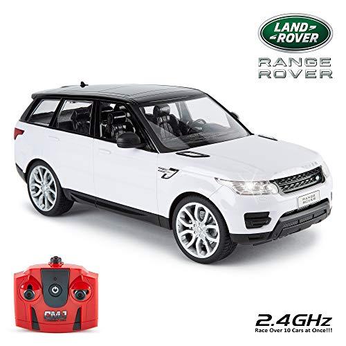CMJ RC Cars ™ Offiziell Lizenziert Fernbedienung Range Rover Sport in 30cm Größe 1:14 Maßstab in Weiß Farbe