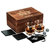 Bicchieri da Whiskey Ritorti Set da 2 – Set Regalo Pietre da Bourbon Whiskey – Pinze per Pietre da Scotch, Sottobicchieri, Pietre Raffreddanti & Bicchieri da Bar - Bicchieri per Uomo & Donna