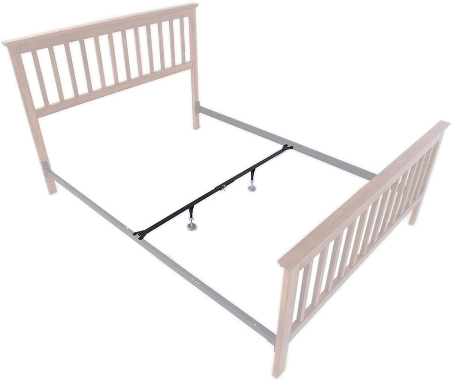 InstantLift IL-1 Full Queen Center Support System for Metal Bed Rails, 1 Rail, 2 Legs