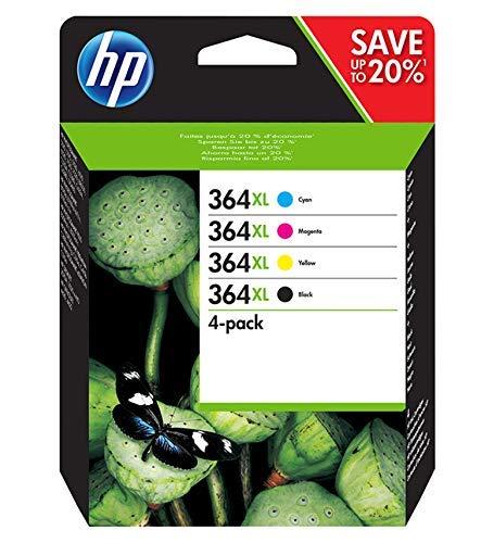 HP 364XL N9J74AE Cartucce Originali per Stampanti a Getto di Inchiostro Photosmart B210c, B110c, B110e, B8550, 7520, Deskjet 3520, 3522, 3524, Confezi