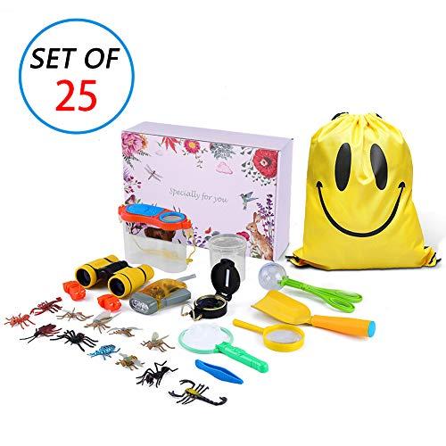 MIMIEYES Kit de exploración al Aire Libre para niños - 25 Pack Kids Adventurer Set de Regalo