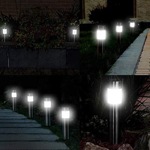 Solar Pathway Lights Outdoor,12-Pack Waterproof Solar Lights Outdoor Stainless Steel Painted Solar Light for Garden,Yard,Lawn