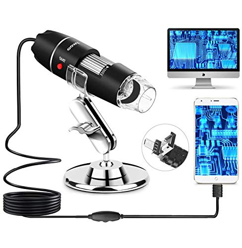 AMSKY USB Digital Microscope for Kids,40X to 1000X Digital Microscope Camera with 8 LED,Portable Magnifying Endoscope Compatible with Android Windows 7 8 10 Linux Mac
