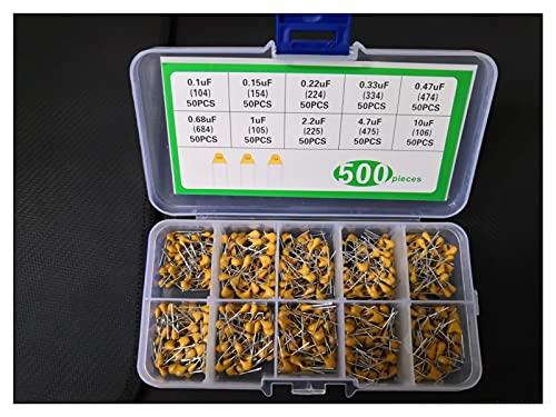 JSJJAET Capacitor 1 Box 500pc Monolithic Capacitor kit 10 Value