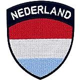 Bandera de escudo de Holanda Parche Bordado de Aplicación con Plancha