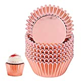 Foil Metallic Cupcake Liners, 100 Pcs Standard Paper Baking Cups Muffin Case Decoration Cups for Souffle, Creme Brulee, Ice Cream - BPA Free