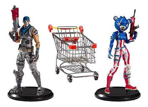 McFarlane Toys Fortnite Action Figures Shopping Cart Pack War Paint & Fireworks Team Leader 18