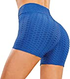DYDTOP Mujer Pantalones Cortos Deportivos Shorts Cintura Alta Elástica Cortos Deportivos para Levantamiento de Culo de Yoga Fitness Shorts