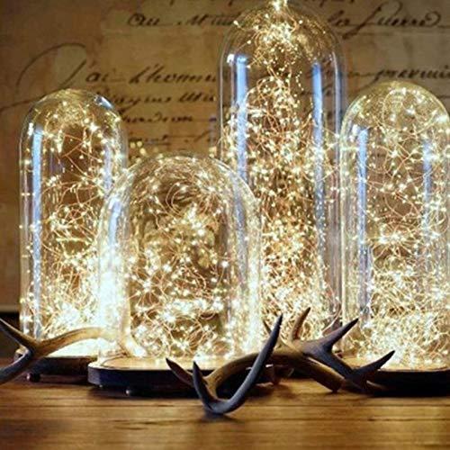 NLRHH Weihnachten auf leichten Kupferdraht LED String Licht Hochzeit Girlande LED Lampen Weihnachtsbaum Ornamente, Größe: 5m 50 LEDs DIY (Farbe: warmweiß) Peng (Color : Warm White)