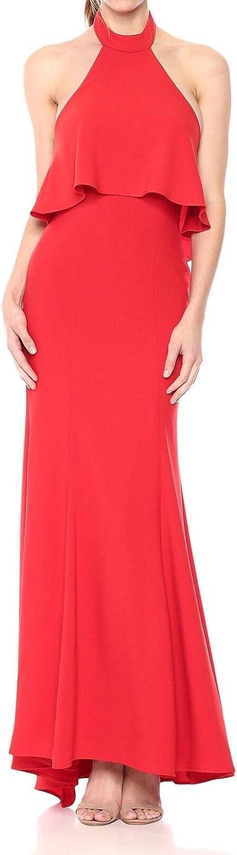 Xscape Women's Long Open Back Dress