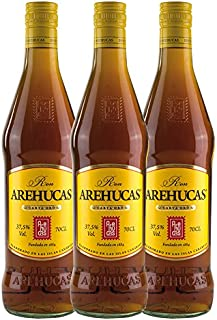Ron AREHUCAS - goldener Rum -Carta Oro 37,5% vol, 3er Sparpack 3 x 700 ml