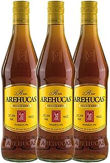 Ron AREHUCAS - goldener Rum -Carta Oro 37,5% vol, 3er Sparpack 3 x 700 ml