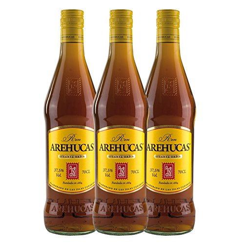 Ron AREHUCAS - goldener Rum -Carta Oro 37,5{e3ac89423ff0320ba5cced65ac7ef49a26a446279e62a2d91c61714c2f2f7076} vol, 3er Sparpack 3 x 700 ml