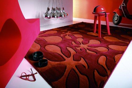 Lars Contzen Teppich Le Pop 653 terra orange 80 x 150 cm Design Teppich