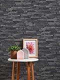 A.S. Création Vliestapete Best of Wood and Stone Tapete in Stein Optik fotorealistische Steintapete Naturstein 10,05 m x 0,53 m grau schwarz Made in Germany 914224 9142-24 - 5
