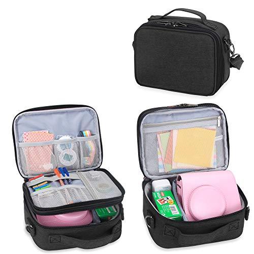 Teamoy Reisetasche Kompaktkamera Taschen für fujifilm instax Mini 9 und Mini 8, Sofortbildkamera Tasche für die Mitnahme von fujifilm instax Mini 9 und Kamera Zubehör, Schwarz