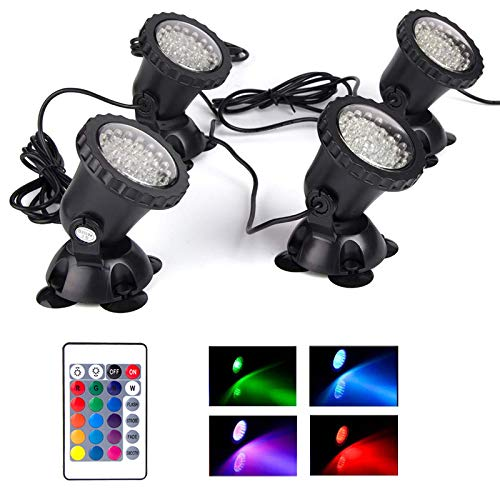 Pond Light Waterproof IP68 Underwater Color Changing Landscape Lights Dimmable Submersible Spotlight...