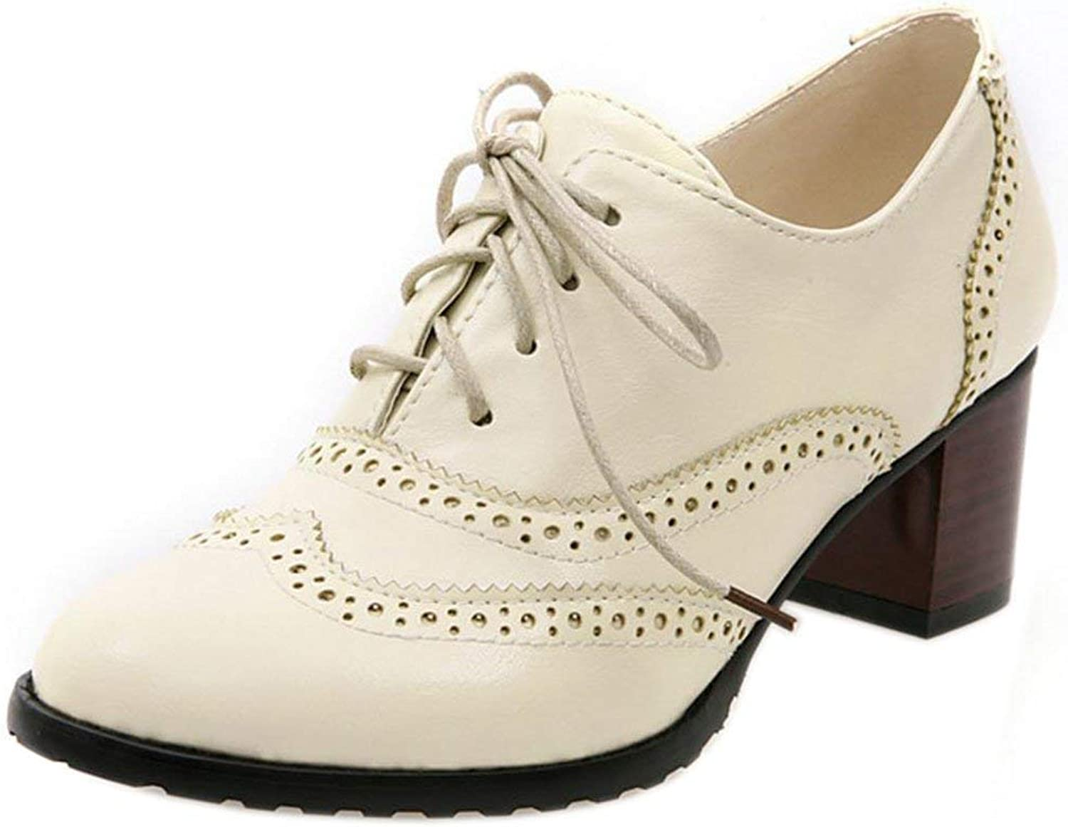 Unm Women's Classic Oxford shoes Mid Heel