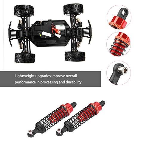 Dilwe RC Auto Stoßdämpfer, Modell Auto Aluminium Legierung Stoßdämpfer Dämpfer für FS 1/18 Fernbedienungsteil LKW Zubehör( Rot)