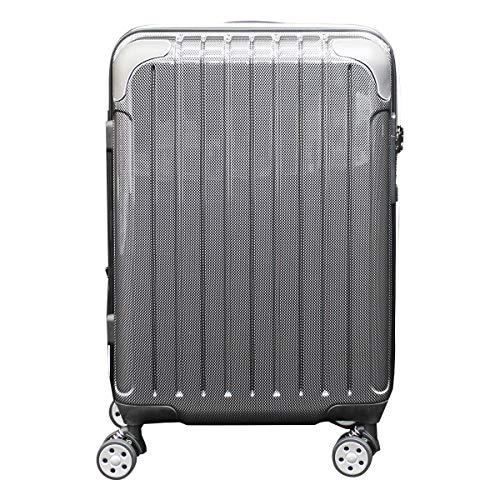 [シフレ] スーツケース 4輪 機内持ち込み 42L 48.5cm 3.1kg スカイラボ SKY2145-48 拡張 LCC対応 カーボンブラック