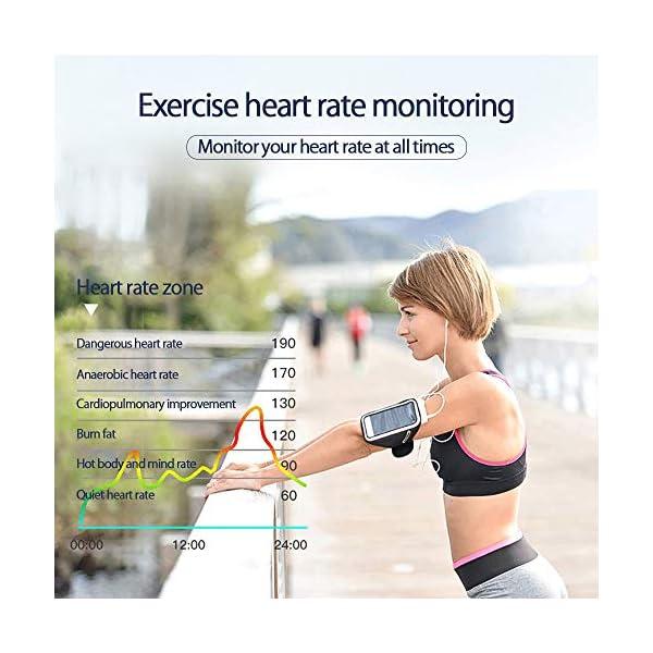 PYBBO Monitor de fitness con temperatura corporal y presión arterial, oxígeno y frecuencia cardíaca, monitor de sueño… 2