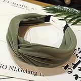 OuYou Diademas de Pelo Anchas de Nudo Bandas para la Cabeza Turbantes para Mujer Diadema Para Mujer Niña Accesorio de Pelo (Verde)