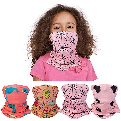 Banne Cooling Kids Neck Gaiter with Ear Loop and Filter Pocket Summer for Girls