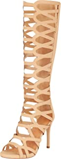 Cambridge Select Women's Open Toe Cutout Caged Stiletto High Heel Gladiator Sandal