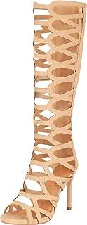 Cambridge Select Women's Open Toe Cutout Caged Stiletto High Heel Gladiator Sandal