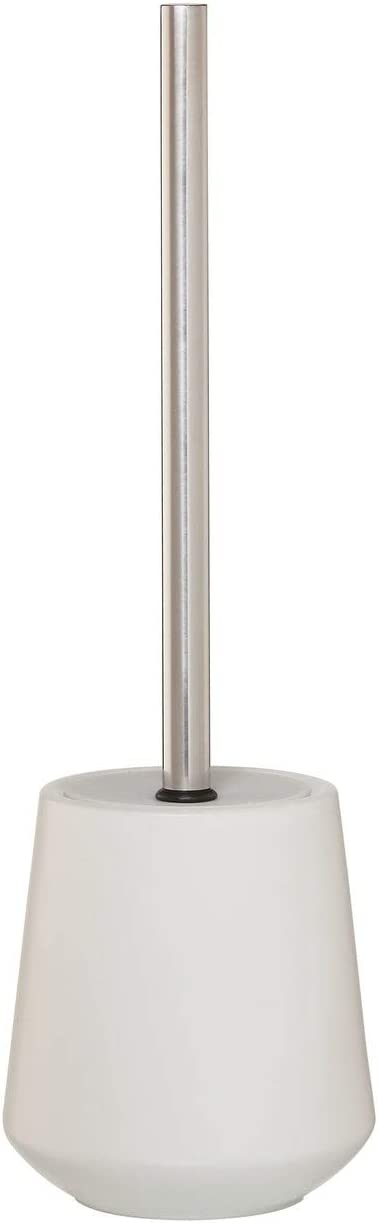 Sealskin Toilet Brush Max 58% OFF and Holder Chrome Porcelain Conical White Baltimore Mall