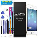 JANBOTEK Replacement Battery Compatible iPhone 5S / 5C - Repair Kit Tools, Adhesive & Instructions 1560 mAh 0 Cycle Battery - 24-Month Warr